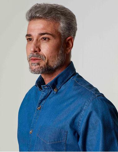 imagem de Camisa Denim City Azul Indigo