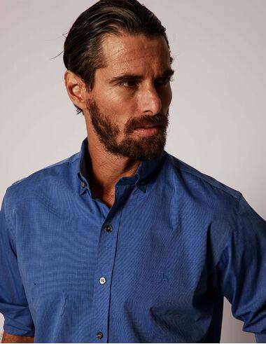 imagem de Camisa Fil a Fil Brooklyn  Azul Royal