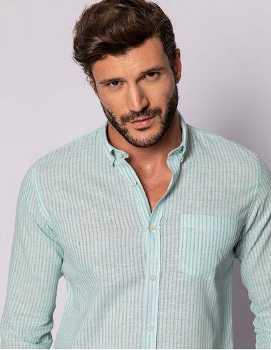 imagem de Camisa ML Fio Tinto Verde Água