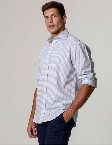 imagem de Camisa Oxford Cubes Branco