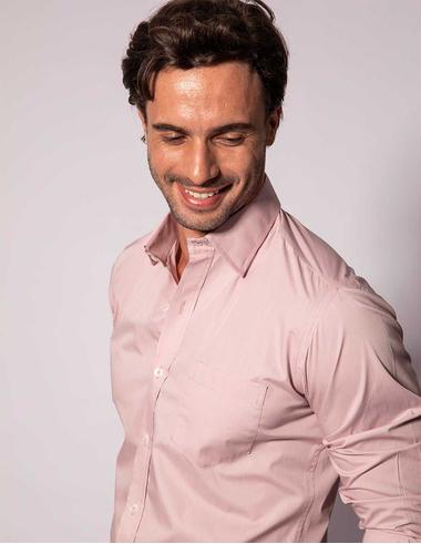 imagem de Camisa Tricoline FT Soho Colors Rosa Chá