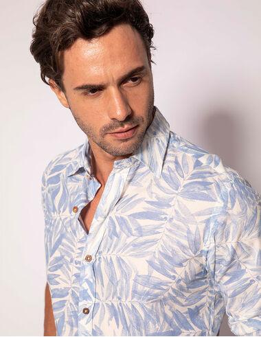 imagem de Camisa Folhagem Joatinga Azul Claro