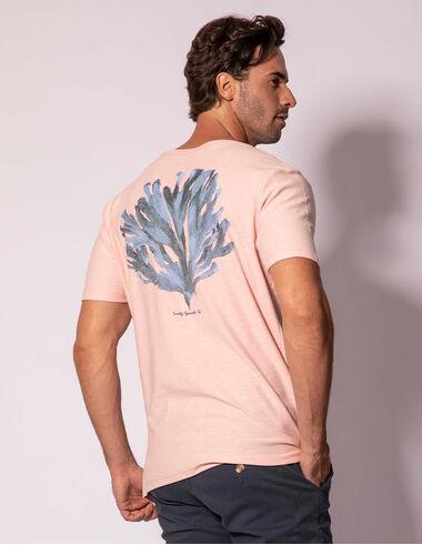 imagem de T-shirt Aquarela Coral Rosa Bebê