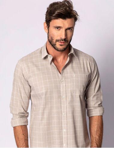 imagem de Camisa Tricoline Slub Goya Caqui