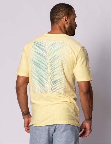 imagem de T-shirt Aquarela Palm Leaf Amarelo