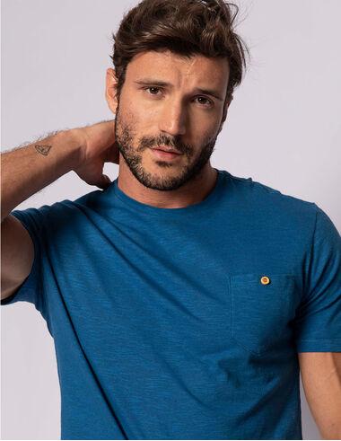 imagem de T-shirt Flamê Bolsinho Verano Azul Índigo
