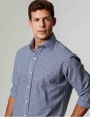 imagem de Camisa Preppy Style Off_Azul_Preto