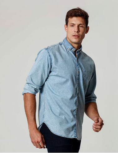 imagem de Camisa Denim La Playa Azul Claro