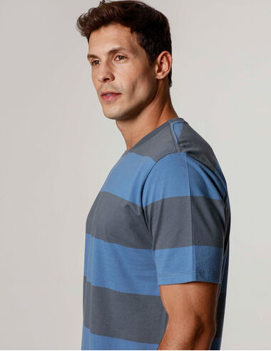 imagem de T-Shirt Fio Tinto Sports Chumbo/Indigo