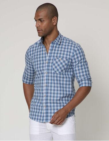 imagem de Camisa Vichy Veraneio Azul Indigo