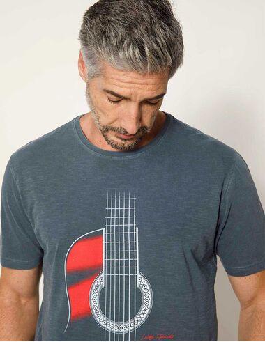 imagem de T-shirt Violão Stonada Azul