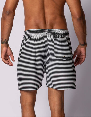 imagem de Short Navy Stripes Preto/Off