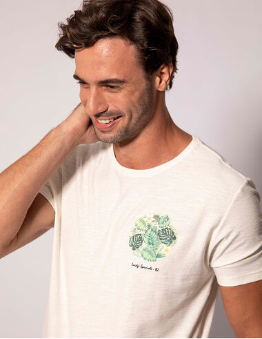 imagem de T-shirt Aquarela Costela De Adão Off White