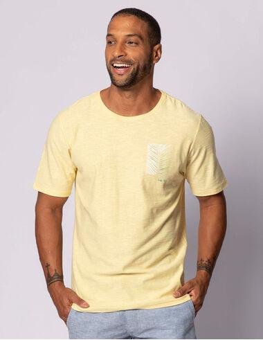 imagem de T-shirt Aquarela Palm Leaf