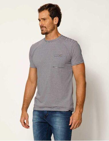 imagem de T-shirt Listrada Seersucker